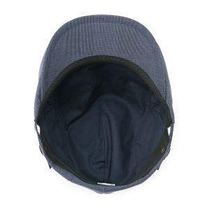 チェック柄ウールハンチングキャップ/ハンチング帽(イタリア製 VBC)