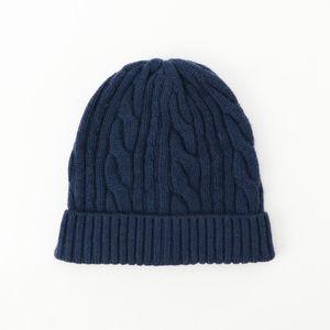 [ 22%OFF ] ウールカシミヤケーブルニットキャップ(帽子)