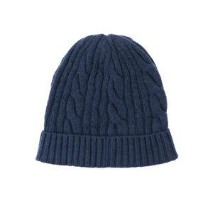 ウールカシミヤケーブルニットキャップ(帽子)