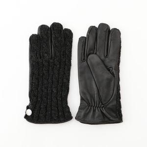 [ 25%OFF ] ケーブルニットコンビグローブ(手袋)