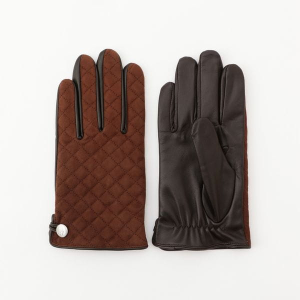 [ 25%OFF ] ゴートレザーキルティンググローブ(手袋)