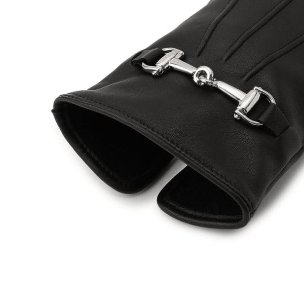 [ 25%OFF ] ビット付きレザーグローブ/カシミヤライニング(手袋)