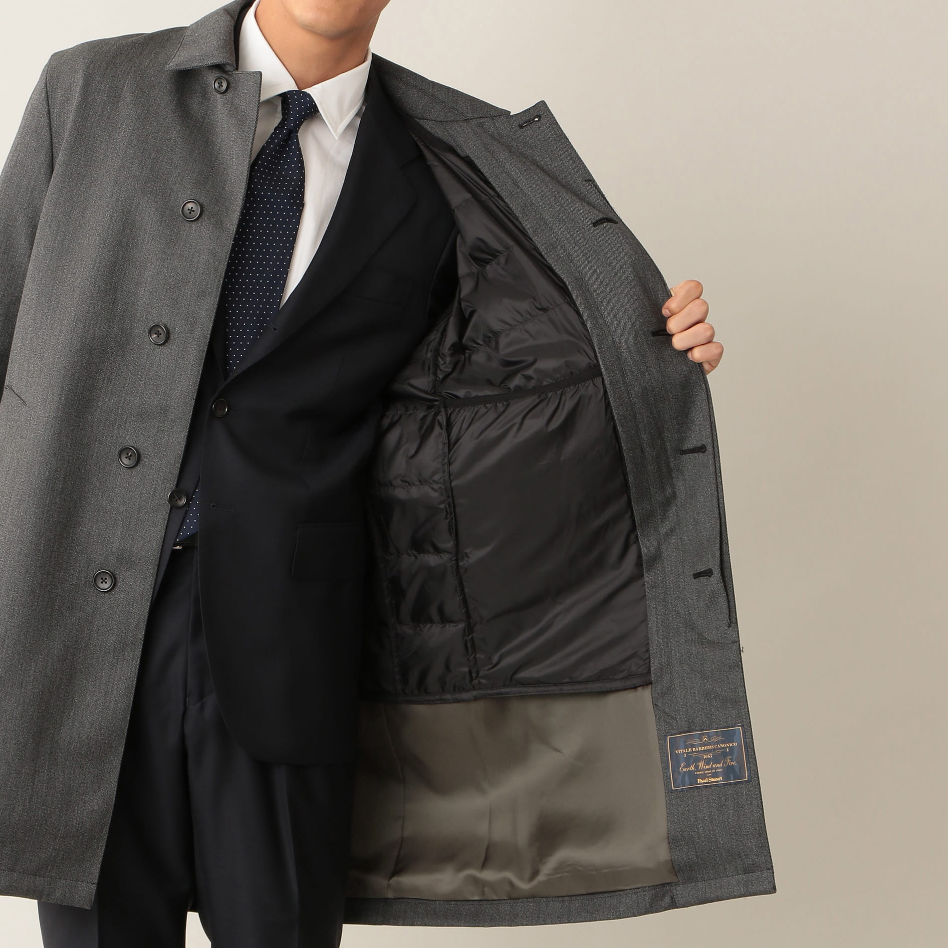 【Vitale Barberis Canonico】「EARTH WIND AND FIRE」ウールボンディングコート