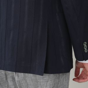[ 40%OFF ] シャドウストライプスラブポプリンメッシュイージージャケット