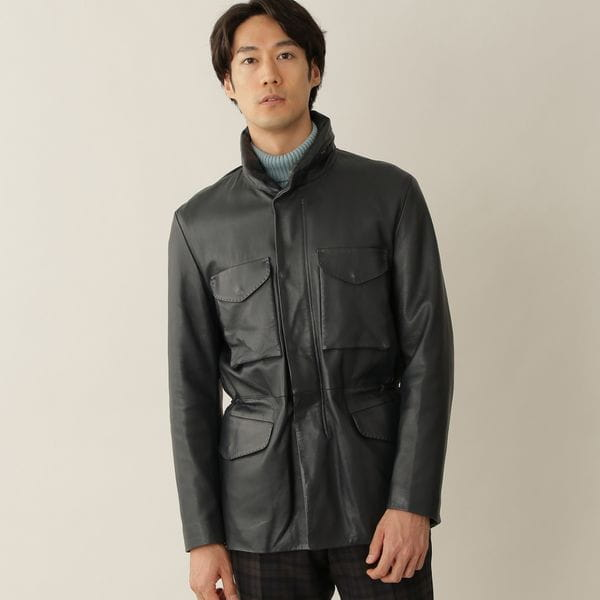 [ 28%OFF ] 【数量限定】ラムレザーM-65フィールドジャケット/ブルゾン