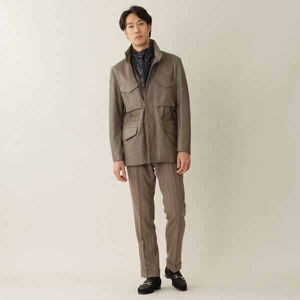【数量限定】ラムレザーM-65フィールドジャケット/ブルゾン