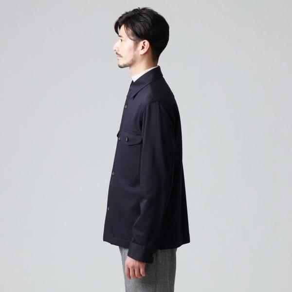 高密度ウォッシャブルジャージダブルポケットシャツ/シャツブルゾン(セットアップ対応) 21FW