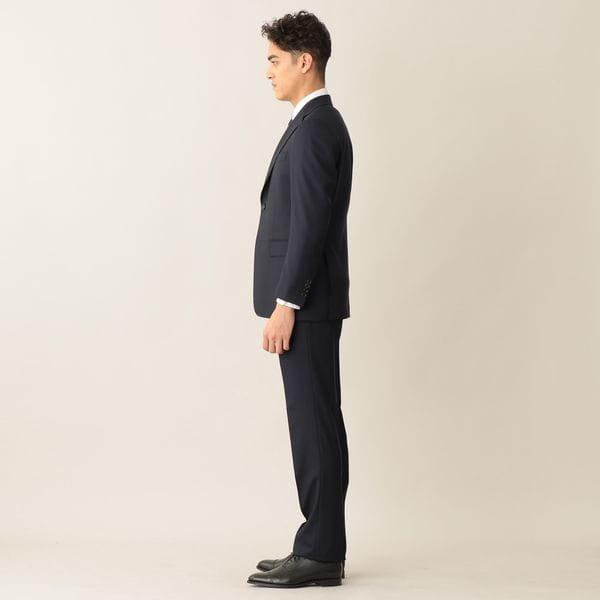 【EASTGATE MODEL】ネイビーシャドウウールヘリンボンスーツ/セットアップ