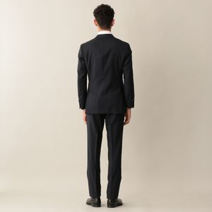 【YORK MODEL】ネイビーウールツイルソリッドスーツ ビジネス/リクルート/オケージョン対応