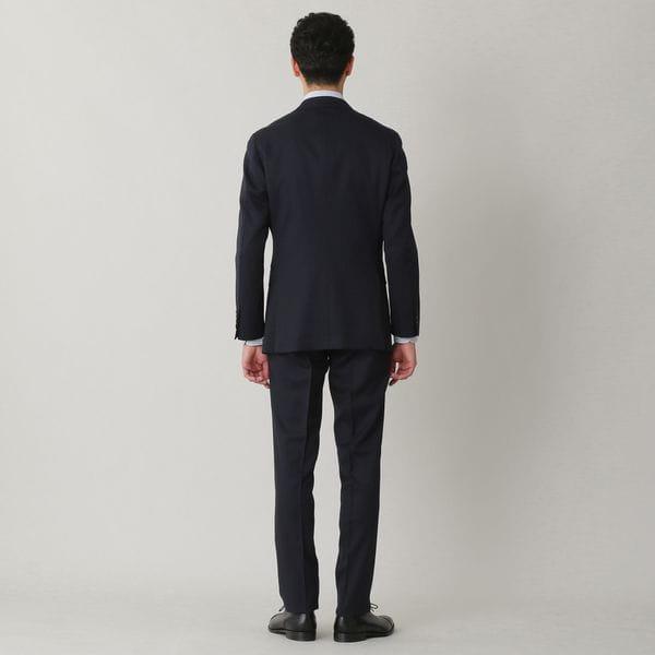 【YORK MODEL】「10month」ネイビーウールシャドウストライプスーツ/セットアップ(ビジネス/リクルート/オケージョン対応)