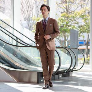 ◇◇【NEW MODEL/BAKER MODEL】ブラウンピンヘッドスーツ/セットアップ