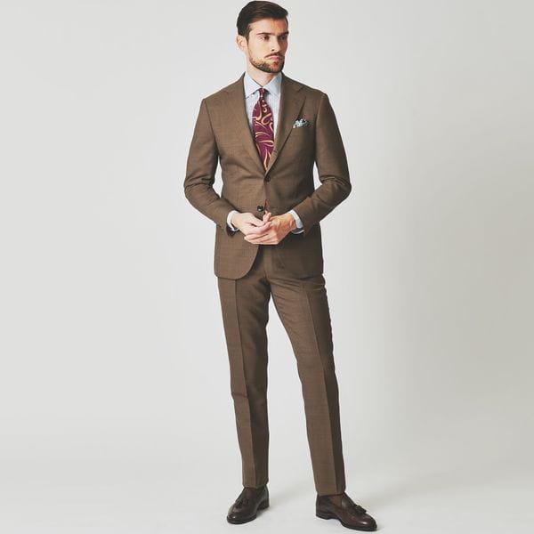 [ 25%OFF ] 【BAKER MODEL】ブラウンピンヘッドスーツ/セットアップ