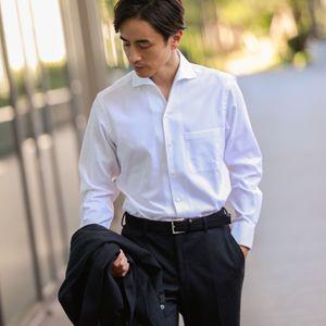 イージーケアロイヤルオックスフォードドレスシャツ/イタリアンカラー「ハンプトンカラー」(形態安定)