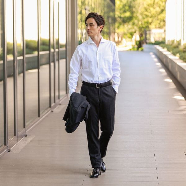 ◆◆イージーケアロイヤルオックスフォードドレスシャツ/イタリアンカラー「ハンプトンカラー」(形態安定)