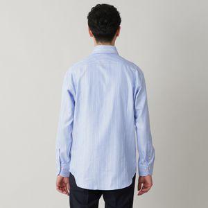 ◇◇ストライプビッグヘリンボンフレンチツイルドレスシャツ/ホリゾンタルカラー