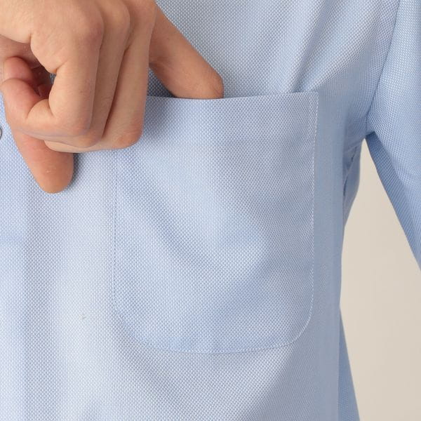 イージーケアロイヤルオックスフォードドレスシャツ/ホリゾンタルカラー(形態安定)