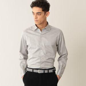 ヘリンボーンイタリアンカラーシャツ