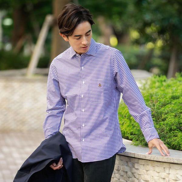 [ 21%OFF ] ギンガムチェック柄シャツ(カジュアルシャツ)