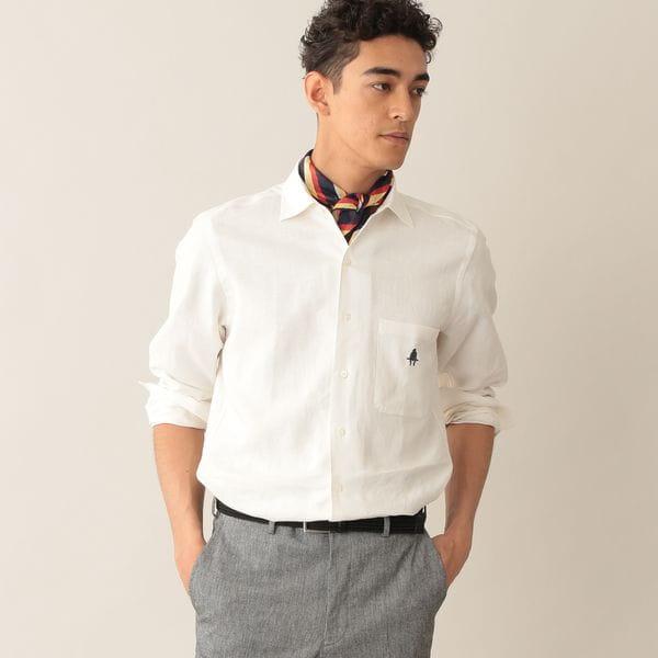 [ 29%OFF ] リネンソリッドホリゾンタルカラーシャツ