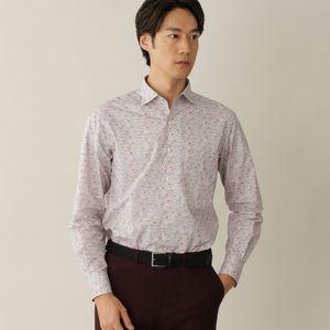 LIBERTYミニフラワープリントイタリアンカラーシャツ