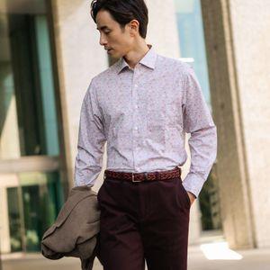 リバティーミニフラワープリントイタリアンカラーシャツ(カジュアルシャツ)