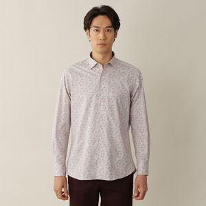 リバティーミニフラワープリントイタリアンカラーシャツ