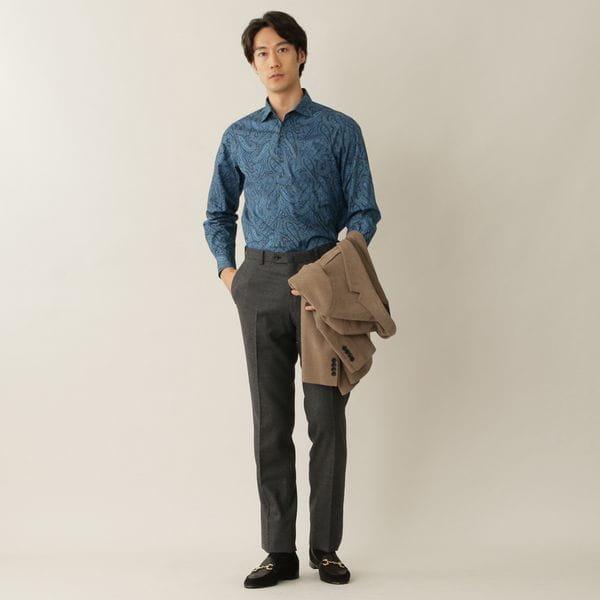 [ 44%OFF ] リバティーペイズリープリントシャツ(カジュアルシャツ)