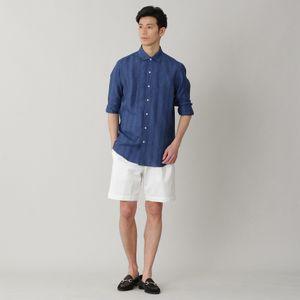 ストライプ/チェックイタリアンカラーシャツ(カジュアルシャツ)