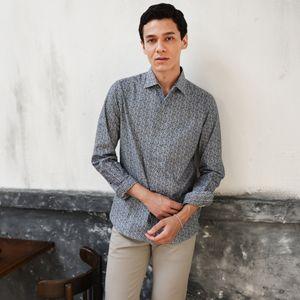 イタリアンカラーフラワープリントシャツ(カジュアルシャツ) 21FW