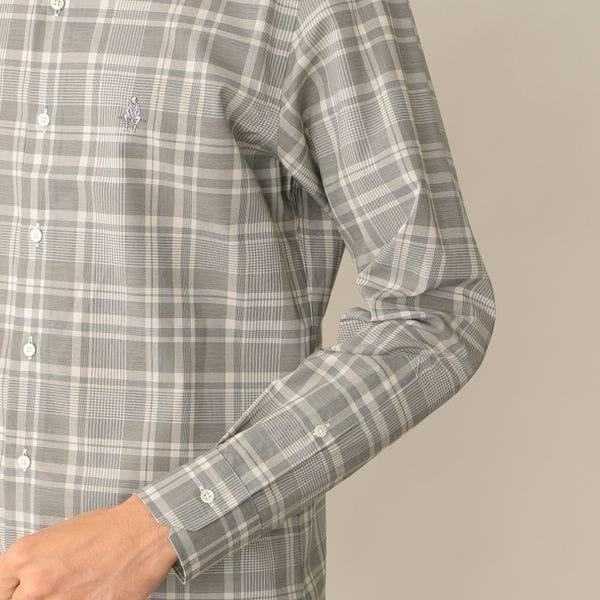 [ 43%OFF ] モノトーンチェックシャツ