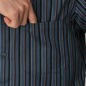 [ 28%OFF ] 起毛ツイルストライプイタリアンボタンダウンシャツ(カジュアルシャツ)