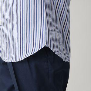 ドビーサテンストライプボタンダウンシャツ(カジュアルシャツ)
