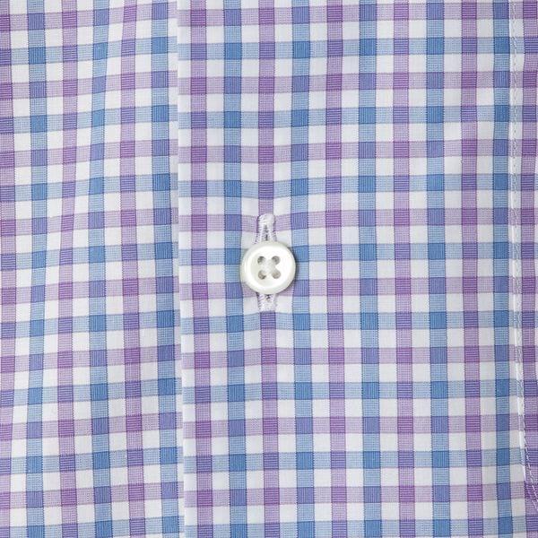◇◇ツートンカラーギンガムチェックボタンダウンシャツ(カジュアルシャツ)