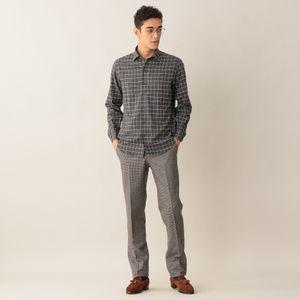 [ 45%OFF ] フランネルイタリアンカラーシャツ(カジュアルシャツ)
