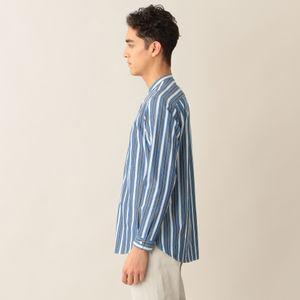 [ 43%OFF ] ストライプ高密度コットンポプリンシャツ