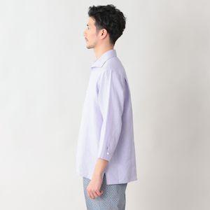 [ 28%OFF ] ハイカウントフレンチリネンオープンカラーリネンシャツ/カプリシャツ(カジュアルシャツ)