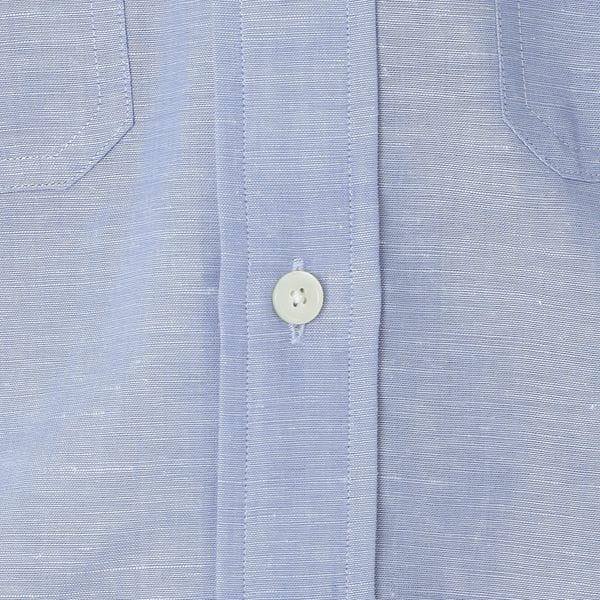 [ 41%OFF ] コットンリネンバンドカラーサファリシャツ