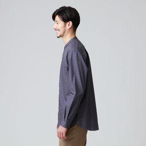 ヴィンテージプリントバンドカラーシャツ(カジュアルシャツ) 21FW