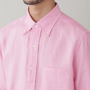 [ 33%OFF ] ハイカウントフレンチリネンボタンダウンシャツ(クールビズ/ビジネスカジュアル対応)