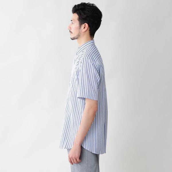 [ 33%OFF ] マルチストライプドビーサテンボタンダウンシャツ(クールビズ/ビジネスカジュアル対応)