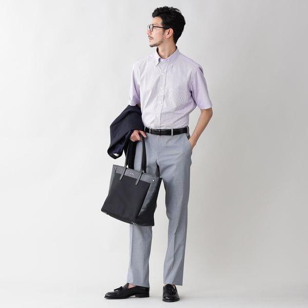 [ 17%OFF ] 【限定店舗/WEB限定】ロンドンストライプポプリンボタンダウンシャツ(クールビズ/ビジネスカジュアル対応)