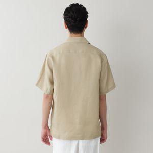 [ 32%OFF ] ハイカウントフレンチリネンサファリシャツ(カジュアルシャツ)