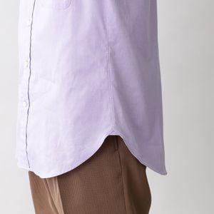 コットンピンオックスバンドカラーシャツ(ビジネスカジュアル対応) 21FW