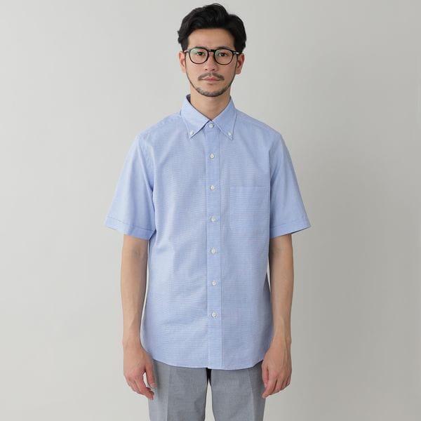 コットンレノクロスボタンダウンシャツ/サマーシャツ(COOLBIZ/クールビズ対応)