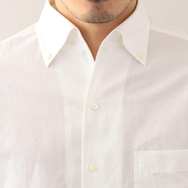 [ 29%OFF ] 綿麻ワンピースカラーシャツ