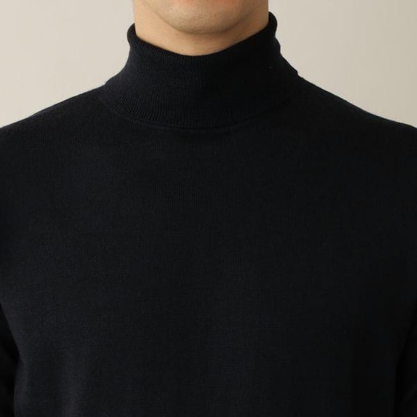エクストラファインウールニットタートルネックセーター