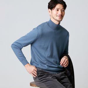 【限定店舗/WEB限定】ウォッシャブルエクストラファインスリックウールニットハイネックセーター 21FW