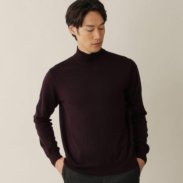 [ 27%OFF ] エクストラファインウールニットハイネックセーター