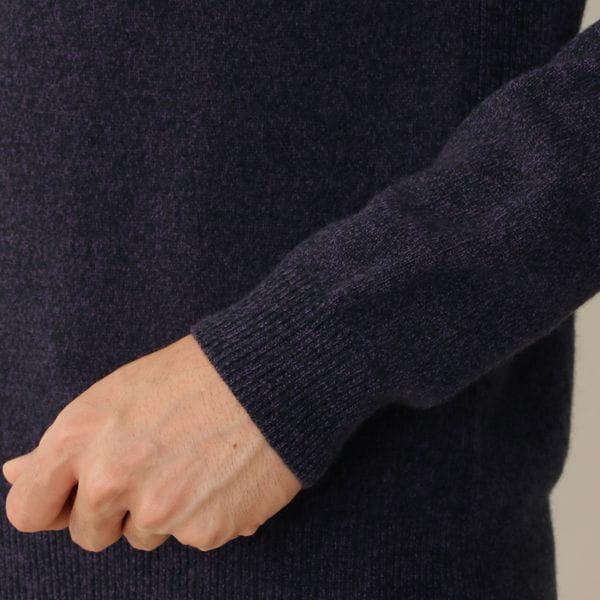 ウールカシミヤメランジニットクルーネックセーター