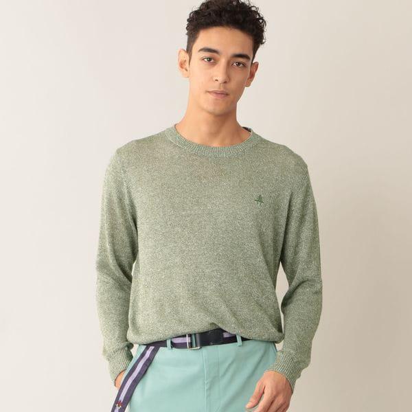 [ 22%OFF ] 【UrbanSafari(アーバンサファリ)掲載】リネンコットンクルーネックセーター